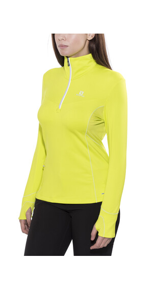 Salomon Trail Runner Warm Mid Midlayer Women yuzu yellow